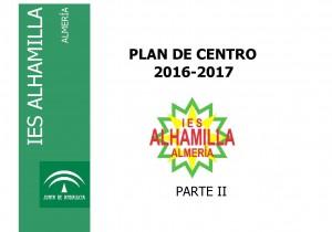 PORTADA PARTE 2 Plan de Centro 2016-2017 1